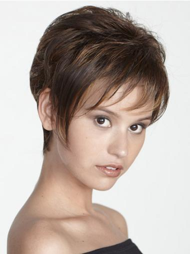 Brown Ideal Boycuts Straight Short Wigs