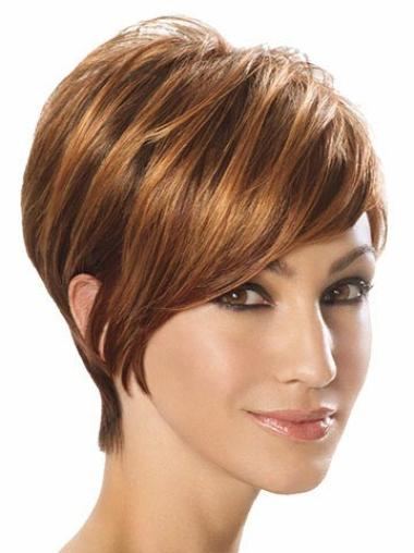 Hairstyles Brown Straight Wigs For Cancer