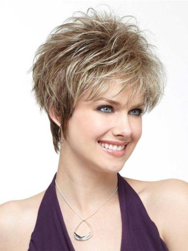 Blonde Straight Synthetic Amazing Short Wigs