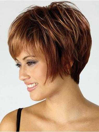 Cheap Auburn Straight Short Wigs