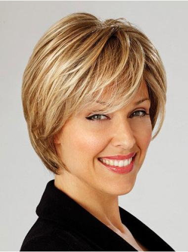 Exquisite Lace Front Bobs Blonde Short Wigs