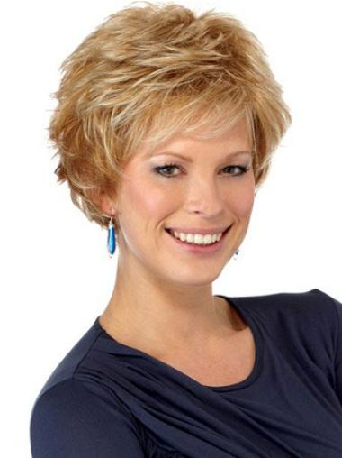 Beautiful Auburn Boycuts Wavy Short Wigs