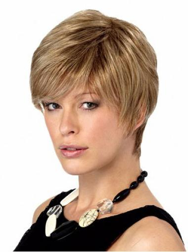 Blonde Ideal Boycuts Straight Short Wigs