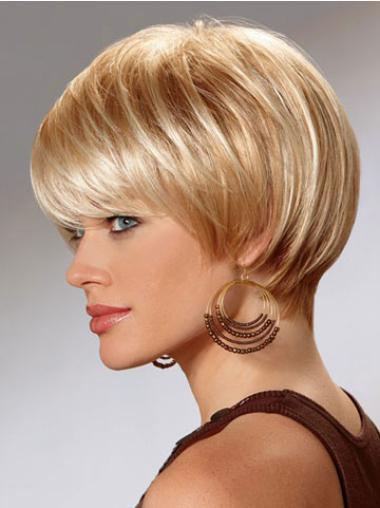 Amazing Straight Bobs Blonde Short Wigs