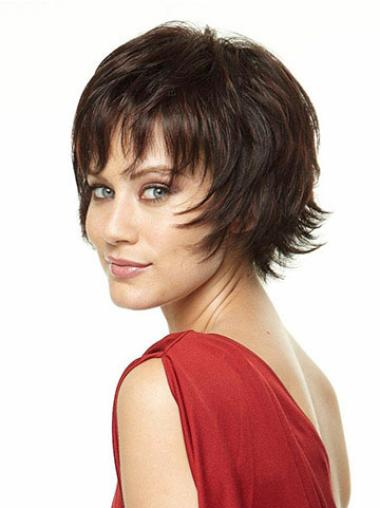 Brown Fashion Layered Straight Short Wigs