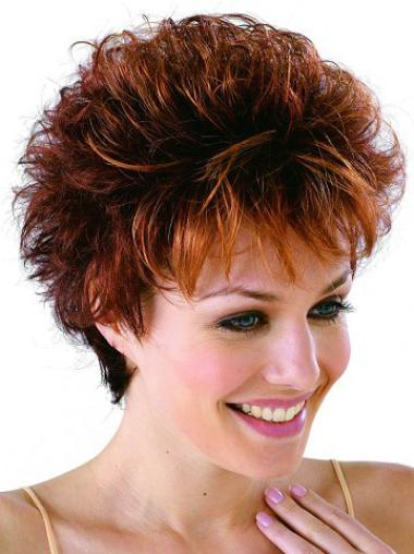 Convenient Monofilament Wavy Cropped Classic Wigs