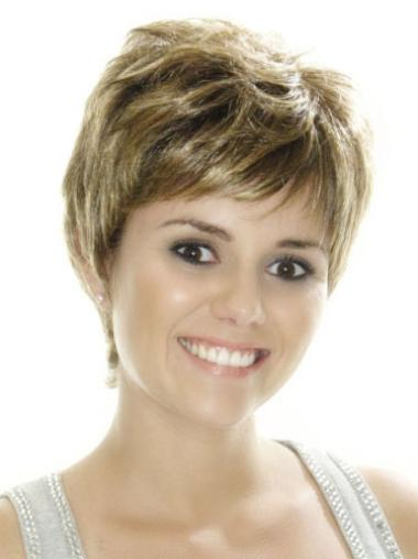 Brown Fashion Boycuts Straight Short Wigs