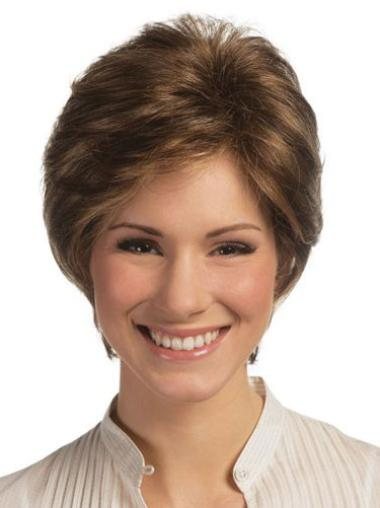 Polite Lace Front Straight Short Remy Human Lace Wigs