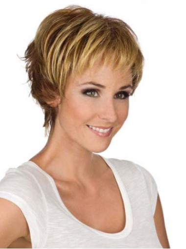 Blonde Wavy Synthetic Hairstyles Wigs For Cancer