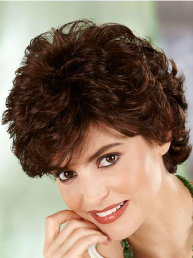 Preferential Auburn Curly Short Classic Wigs