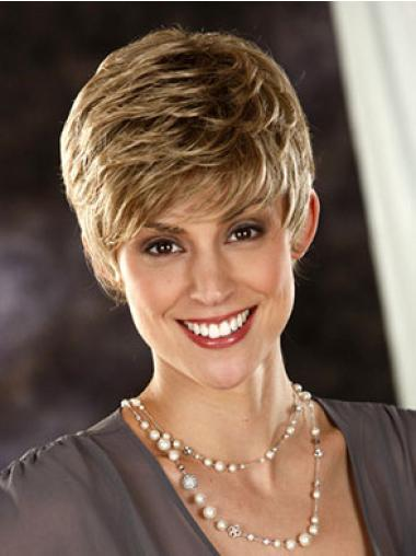 Boycuts Wavy Synthetic Fashionable Short Wigs