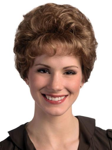 Top Brown Curly Short Classic Wigs