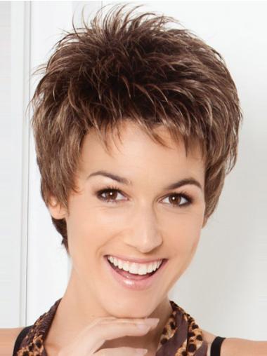 Lace Front High Quality Boycuts Straight Short Wigs