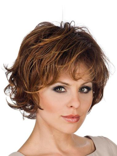 Lace Front Cool Layered Wavy Short Wigs