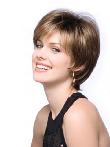 Lace Front Stylish Boycuts Straight Short Wigs