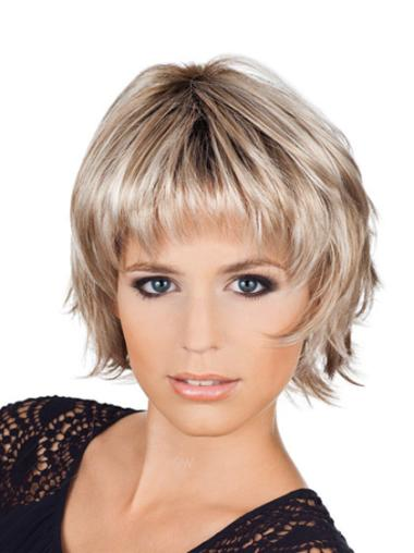 Incredible Wavy Bobs Blonde Short Wigs