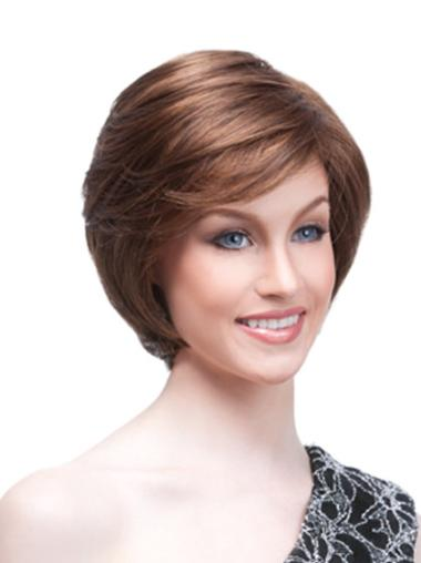 Gentle Synthetic Monofilament Straight Wigs For Cancer