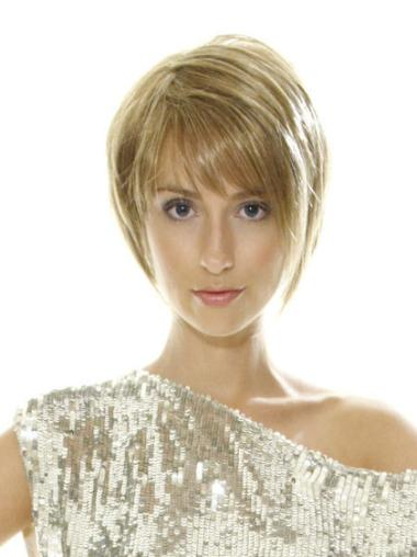 Fashionable Lace Front Bobs Blonde Short Wigs