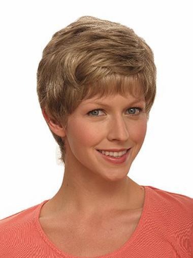 Brown Faddish Boycuts Wavy Short Wigs