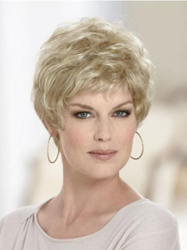 Blonde Wavy Synthetic Great Short Wigs