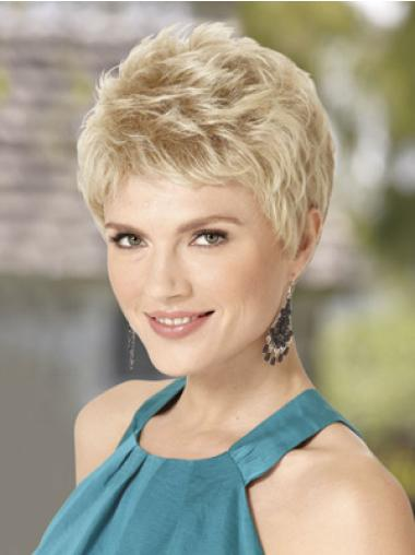 Blonde Wavy Synthetic Incredible Short Wigs