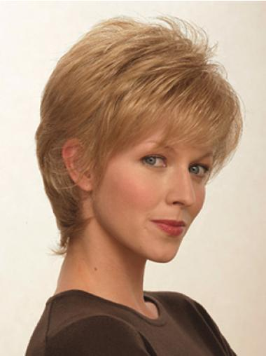 Synthetic Blonde Straight Fashionable Short Wigs
