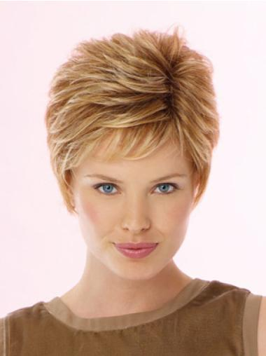 High Quality Blonde Wavy Cropped Celebrity Wigs