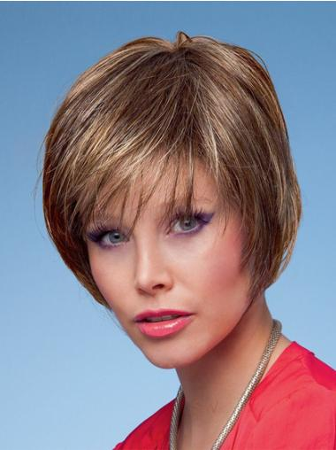 Brown Straight Synthetic Preferential Short Wigs