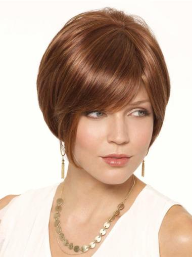 Traditiona Auburn Lace Front Short Wigs