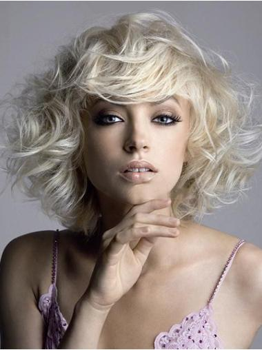 Blonde Wavy Synthetic Preferential Short Wigs
