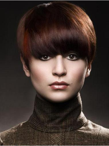 Stylish Auburn Boycuts Straight Short Wigs
