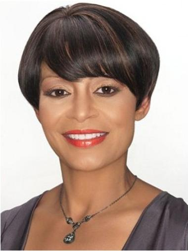 Brown Modern Boycuts Straight Short Wigs