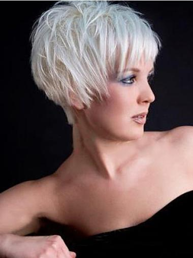 Straight Synthetic Easy Short Wigs