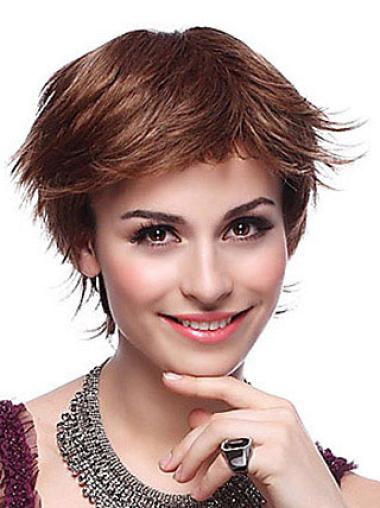 Fabulous Auburn Layered Straight Short Wigs