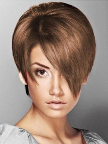 Brown Elegant Boycuts Straight Short Wigs