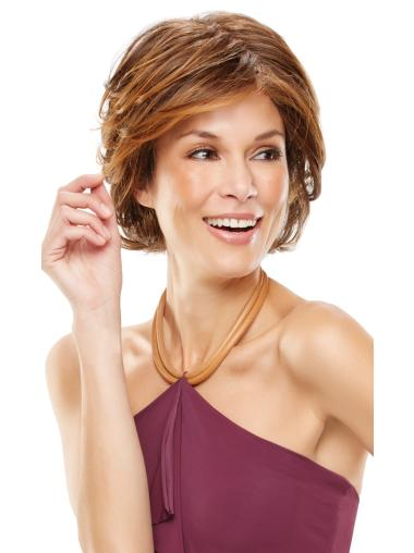 Monofilament Fashionable Boycuts Wavy Short Wigs