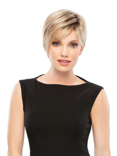 Blonde Sassy Boycuts Lace Front Short Wigs