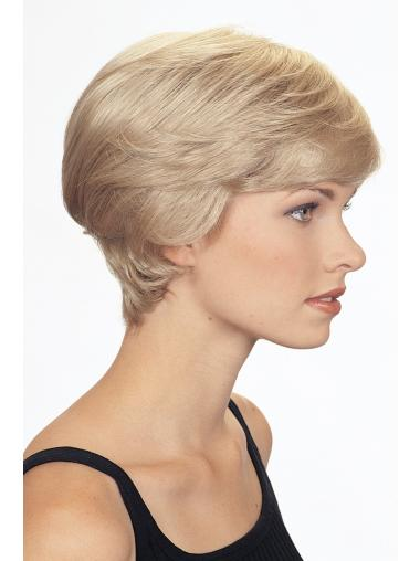 Blonde Elegant Boycuts Wavy Short Wigs