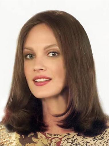 Braw Lace Front Straight Shoulder Length Remy Human Lace Wigs