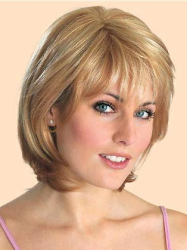 Bobs Natural Blonde Lace Front Medium Wigs