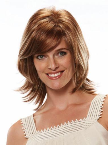 Trendy Synthetic Auburn Straight Medium Wigs
