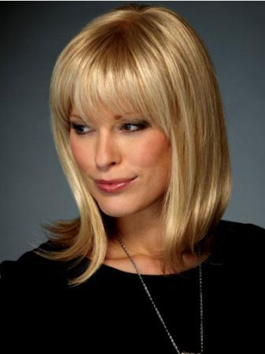 Fabulous Blonde Straight Shoulder Length Lace Front Wigs