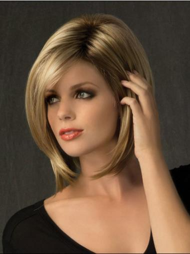 Bobs Popular Blonde Straight Medium Wigs