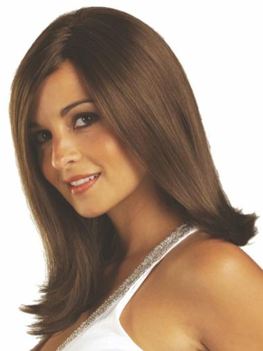 Brown Stylish Straight Synthetic Medium Wigs