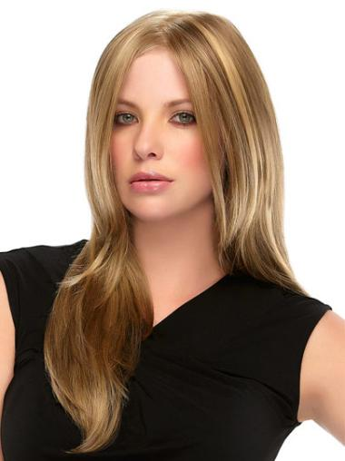 Blonde Straight Synthetic Top Long Wigs