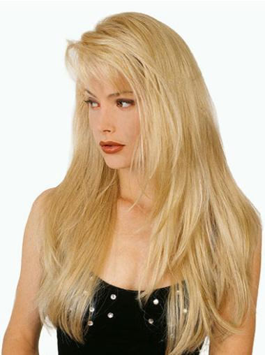 Blonde Straight Synthetic Cool Long Wigs