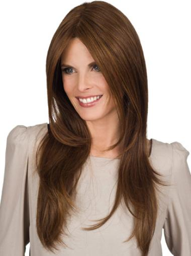 Brown Straight Synthetic Great Long Wigs