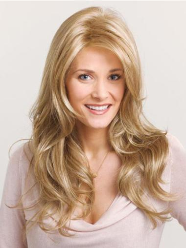 Unique Blonde Wavy Synthetic Long Wigs