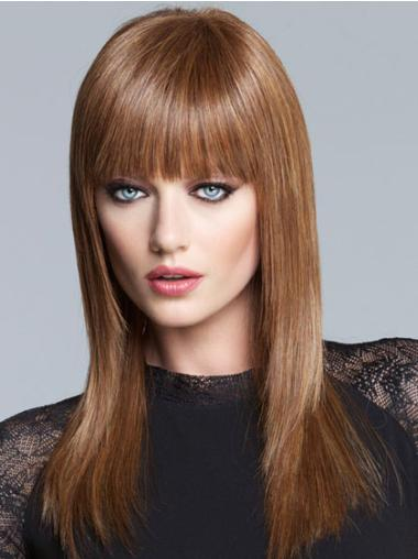 Lace Front Straight Synthetic Elegant Long Wigs