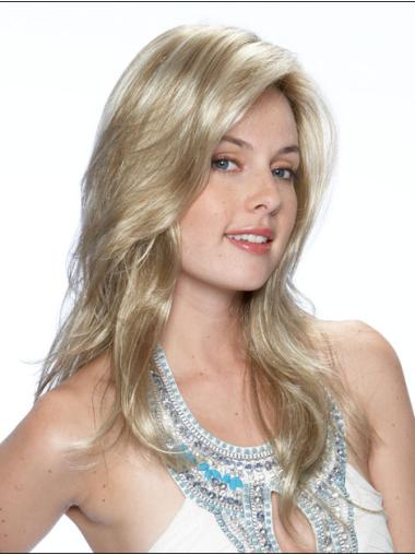 Durable Blonde Wavy Synthetic Long Wigs